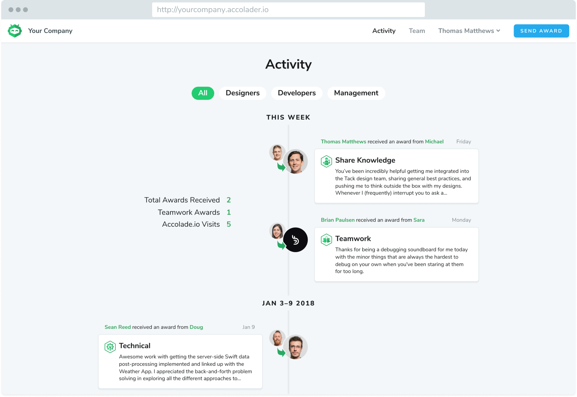Activity Page Screenshot